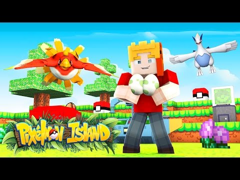 CATCHING A LUGIA AND A HO-OH! Pixelmon Island! SMP!