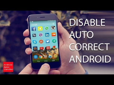 How to turn off auto correct on android (note 8)