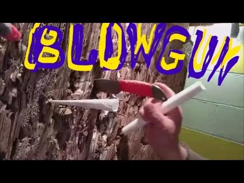 Paper blowgun in 30 second