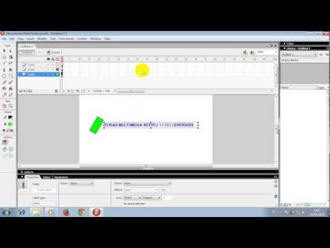 Cara Teks Animasi Taksing Di Macromedia Flash 8