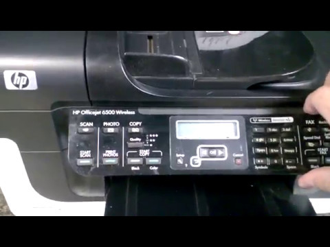 Replacing Control Panel on HP Officejet 6500 Printer E709