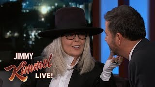 Diane Keaton Has a Hard Time Coming to Kimmel