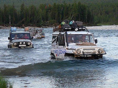 путешествие с рыбалкой на внедорожниках видео