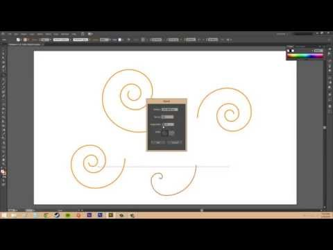 Adobe Illustrator CS6 for Beginners - Tutorial 24 - Spirals and Arcs
