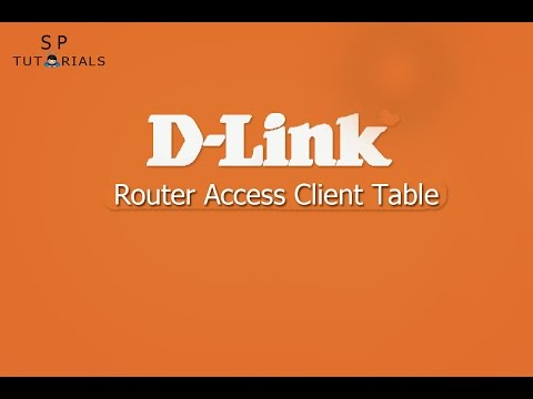 D Link Router Access Client Table | Monitor wifi active users IP & MAC Address
