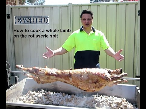 How to cook a whole lamb on a rotisserie spit
