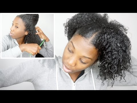 detangling my natural hair