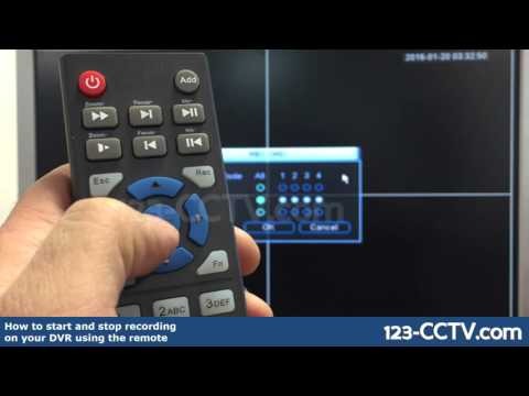 How to start and stop recording on your security DVR using the remote