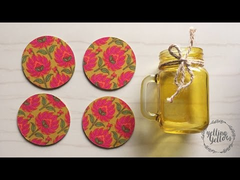 Fabric Decoupage Coasters