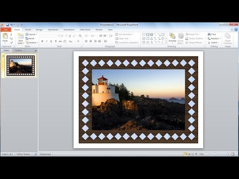 Powerpoint training |How to Create Your Own Photo Frame in PowerPoint