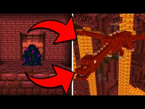 How To Hatch a Red Dragon Egg in Minecraft Pocket Edition with Addons (Nether Caster Addon)