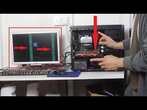 Troubleshoot A 1080p Gaming PC With Artefacts Green Vertical Lines On Display Monitor | GPU Fault?