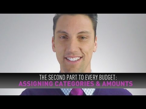 The 2nd Part to EVERY Budget: ASSIGNING CATEGORIES & AMOUNTS