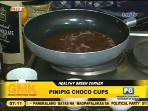 Pinipig Choco Cup