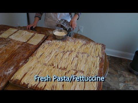 Italian Grandma Makes Fresh Pasta/Fettuccine (RE-UPLOADED)