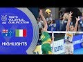 AUSTRALIA Vs ITALY Highlights Men Volleyball Olympic Qualification 2019