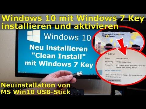 Windows 10 Clean Install ohne Upgrade mit Windows 7 Key - digitale Berechtigung