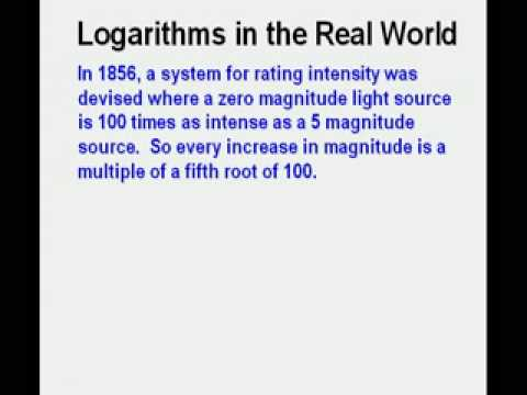 Logarithms in the Real World
