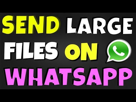 how to send large files on whatsapp