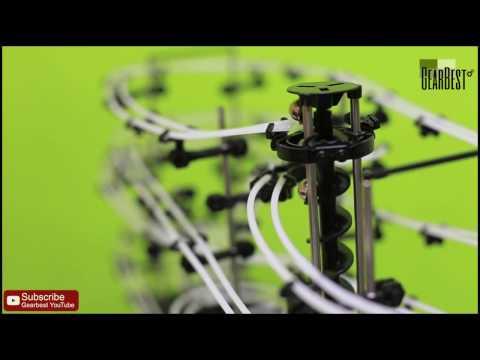 Level 3 Marble Roller Coaster DIY Model - Gearbest.com
