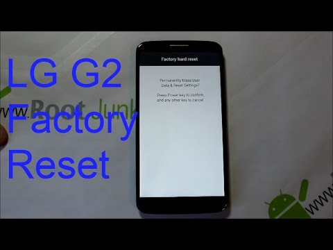 How to factory reset the LG G2 stock recovery