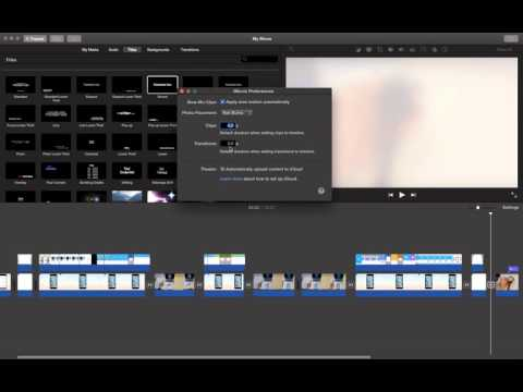 how to change duration of all transitions in imovie?