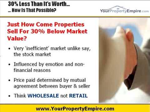 Hpw To Find Property 30% Below Market Value