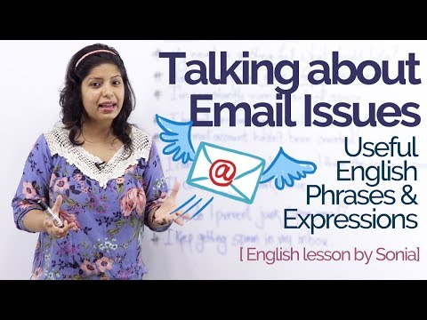 Talking about 'Email Issues' – Improve your English speaking & Writing | Business English Lesson