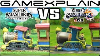 Super Smash Bros. Ultimate Graphics Comparison: Switch vs. 3DS (ALL RETURNING STAGES!)