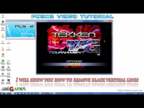 PCSX2 Video Tutorial - How to Remove Black Vertical Lines (OUTDATED)