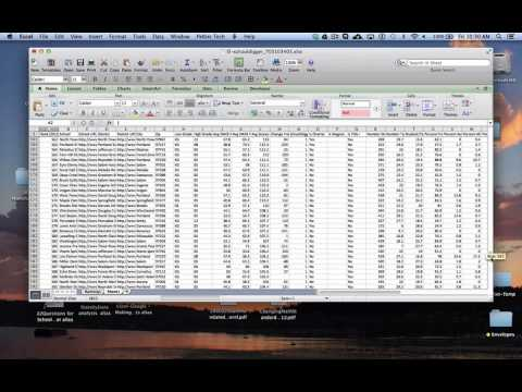X-Y Chart on a Mac - Step 1: Merging 3 Excel spreadsheets into 1