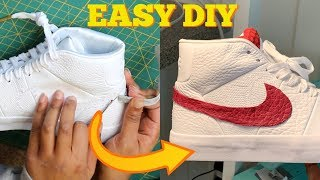 ad9d1826d925 DIY  HOW TO REMOVE AND REPLACE NIKE SWOOSH  NO SEW