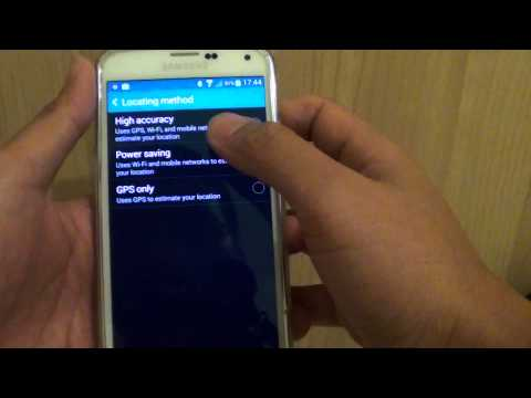 Samusng Galaxy S5: How to Enable/Disable GPS Location