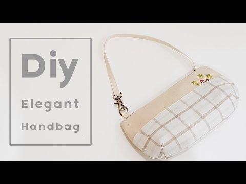 Diy Elegant Handbag   Handbag Tutorial   高贵典雅手作包教学分享❤❤