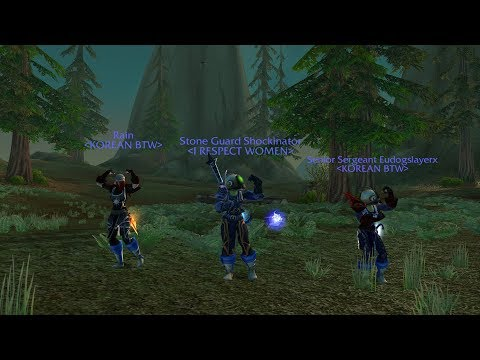 Retro-WoW Gnome Warrior PvP! BattleGround Ownage! Duels Later With Shaman