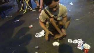 Bangkok crippled street beggar has Telekinesis