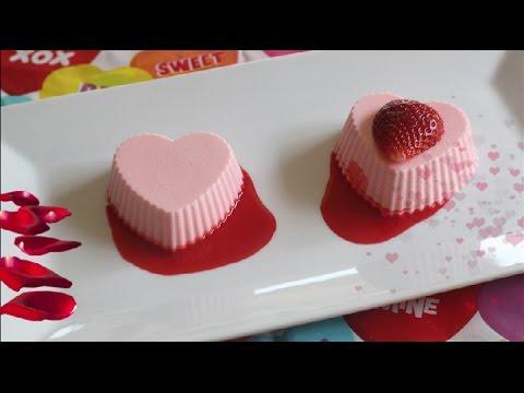 Valentine Rose Berry Panna Cotta Recipe | No Eggs | No Gelatin | Quick & Easy