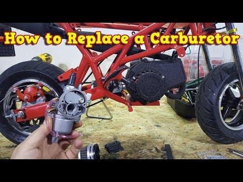 Pocket Bike Engine - Carburetor Swap - Instructions