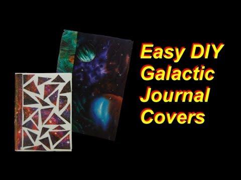 Easy DIY Galactic Journal Covers