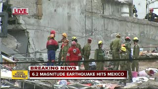 Strong 6.2 aftershock rocks southern Mexico
