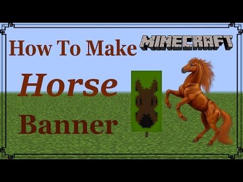 Minecraft | How to make Horse Banner | MangoMan