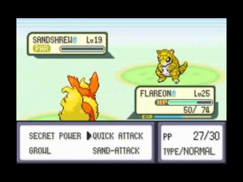 Pokémon Fire Red Walkthrough ~Part 23~ Training Flareon on Route 11