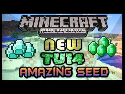 Minecraft Xbox 360 TU14 Amazing seed- 3 emeralds, 5 Diamonds and much more!!!