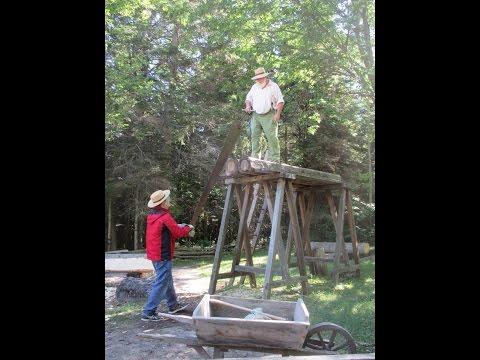1700s Era Water Powered Wood Sawmill for Mackinac Island