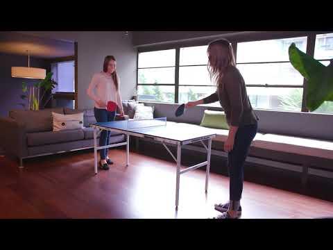 Lifestyle Video | Harvil 60-Inch Folding Portable Table Tennis Table | Dazadi.com