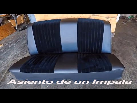 How to Upholster Classic Impala Rear Seat | Make Seat covers