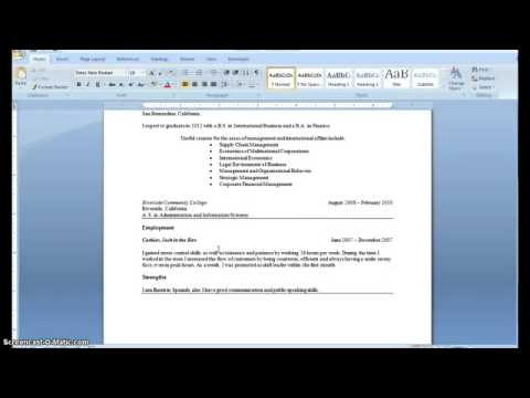 how to write a resume with little or no job experience