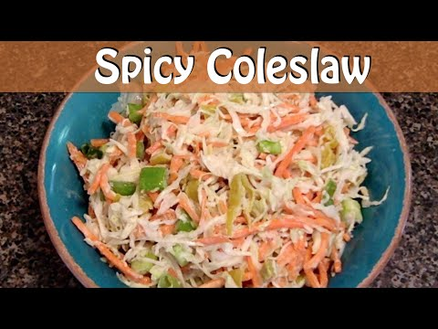Spicy, Spiralized, Vegan Coleslaw Recipe