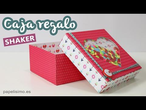 Caja de regalo corazón shaker para San Valentín