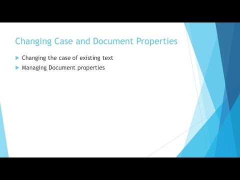 Word 2013 - Lesson 20 - Document Properties